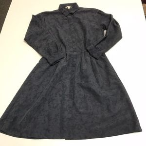 Gap Collared Long Sleeve Button Down Flared Dress